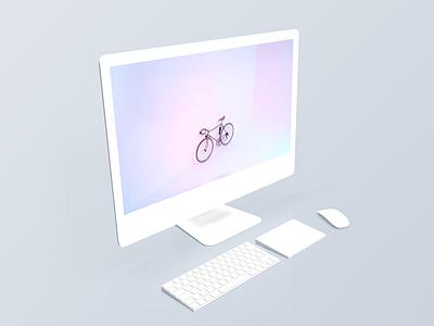iMac 5k Mockups - White Matte free mockups white matte white free download showcase presentation fresh clean free mockup mockups imac 5k imac mockups