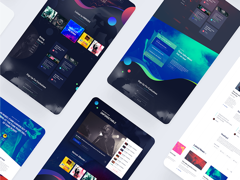 MIMUSIC [W.I.P] #4 | Overview by tranmautritam ✪ in MI MUSIC - A Free Website PSD Template