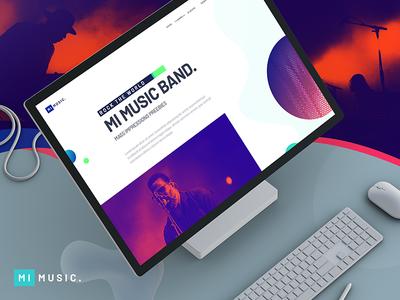 MI MUSIC - Free PSD | About Page