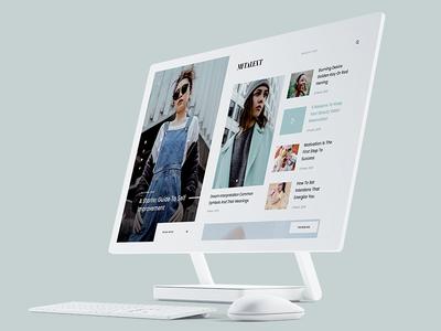 MITALENT | Behance Showcase + Free PSD ux design ui design clean design photoshop web template psd template free psd freebie showcase behance