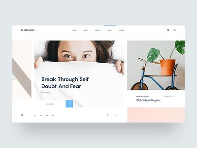 Minimal | Simple Blog Concept web design concept blog news clear clean simple minimalistic minimal