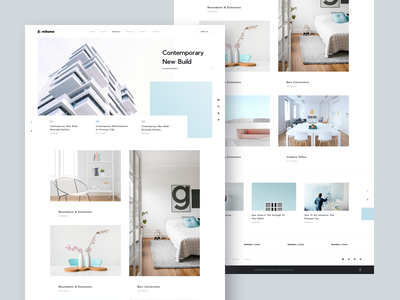 MI Home | Projects [WIP] - Full Page project page property home house sketch sketch template clean minimal white simple