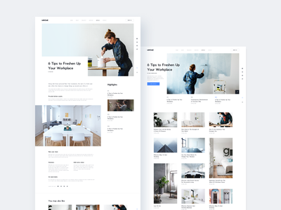Clean Blog for MIHOME | Free Sketch File web design decor architectural house home white minimal clear clean blog
