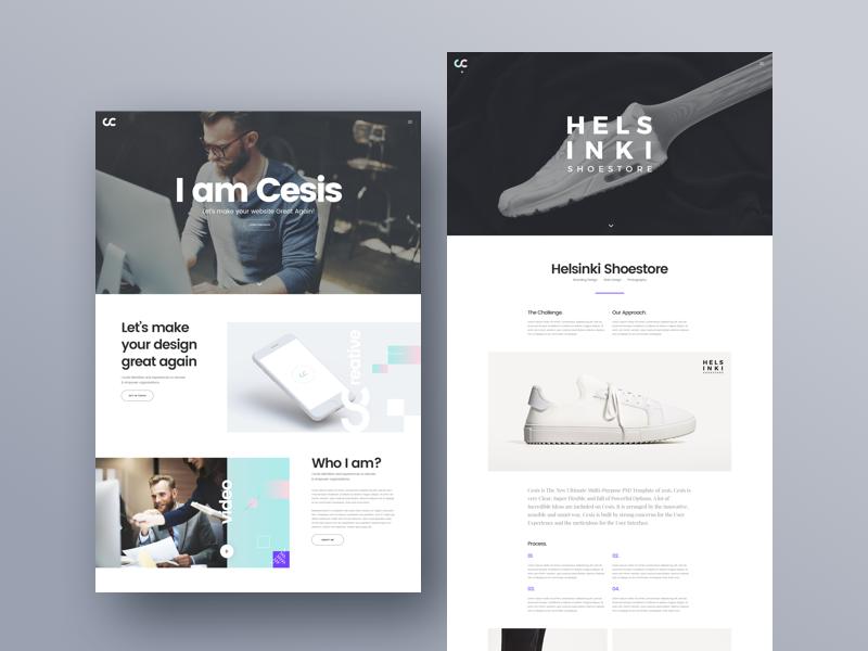 Cesis creative agency   free website psd template