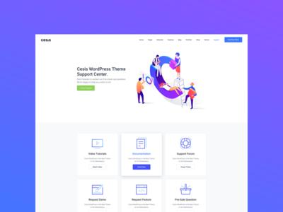 Cesis Wordpress Theme Support Center