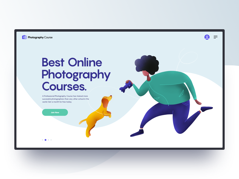 Photography Course Hero Header by Tran Mau Tri Tam ✪ on