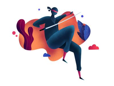 Ninja illustrations noise procreate illustrator illustration ninja
