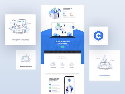 Cesis Business Wordpress Demo on Behance sketch download envato cesis themeforest wp illustration ux design ui design theme wordpress business