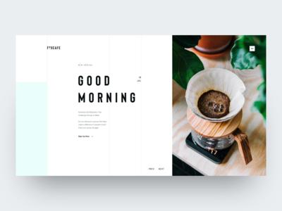 FoxCafe - Hero Header Concept modern clear clean design thinking web design concept ux design ui design hero header fox coffee cafe
