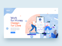 UI Designer Hero Header Concept profile mobile typography illustration web designer hero header header user interface ui designer creative
