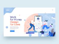 UI Designer Hero Header Concept