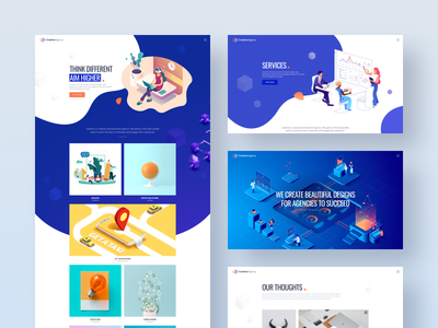 🎁MI Creative Agency - FREE SKETCH Template freebies landing page portfolio blog agency sketch app sketch template free download freebie creative