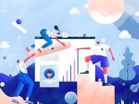 Ui designers team work   illustration by tran mau tri tam