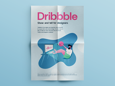 Dribbble :: Illustration + Free Vector 🎁