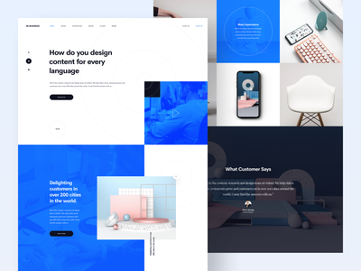 Mi Business :: One Page blog news work portfolio vietnam designer vietnamese website design clean layout clean style layout exploration grid freebie sketch template business template one page layout business one page web design ui design clean