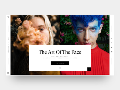 The Art of The Face #1 :: Tuesday minimal hero header landing page user experience ui  ux design user interaction user interface ui web design creative layout web designer layout exploration face art beautiful girl beautiful beauty creative web design ui design clean