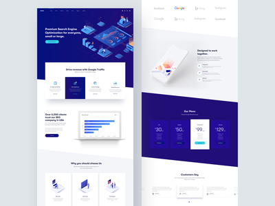 MISEO :: Landing Page clean user interface clean website clean ui design search home page marketing landing page marketing company marketing agency seo services seo company landing page website online marketing marketing seo business minimal creative web design ui design clean