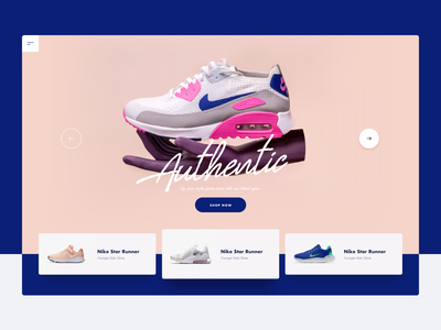 Nike :: Header Concept vietnam website agency web designer tranmautritam ecommerce shop website shopping shop design shop app shop authentic slide nike concept nike shoes minimal creative web design ui design clean