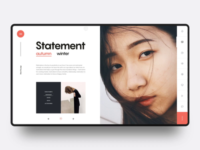Layout Exploration :: Chap 12 magazine news fashion magazine fashion website free download slider tab animated gif animated video animation slide interaction fashion tranmautritam minimal creative web design ui design clean
