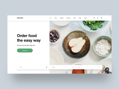🚀Mi Food - Sketch Template - Free Download clean ui design web design creative minimal tranmautritam food food and drink sketch template sketch app ui design kit free template drink template restaurant nutrition food website hospitality food and beverage order food food app template