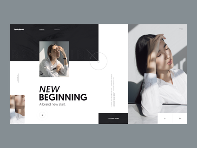 Lookbook :: Chap 13 :: Layout Exploration ui design clean creative minimal layout exploration layout design clean website clean web design ui designer vietnam user interface ux design user experience model fashion lookbook magazine press tranmautritam young