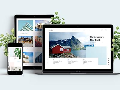 Mi Home - Free Download portfolio design blog tranmautritam creative ui design property home house sketch sketch template clean minimal white simple web design