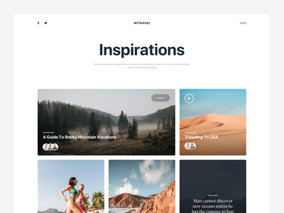 MI Travel :: Blog Card theme web designer tranmautritam web design free download sketch template freebie blog inspiration blog style clean blog card blog card traveler travel blog tranmautritam minimal creative web design ui design clean