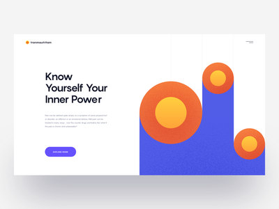 Layout Exploration :: Abstract colors web hero header hero header look vietnam minimal theme minimal website color combination ux-ui ux typography landing page illustration design tranmautritam minimal creative web design ui design clean