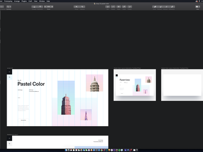 Pastel Color after effects sketch interaction minimal layout creative layout creative blog blog creative website clean creative clean landing page clean layout architect architectural design architechture landing page business minimal creative ui design clean