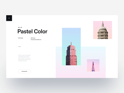 Pastel Color 2 :: Layout Exploration clean ui design creative minimal business landing page architechture architectural design architect clean layout clean landing page clean creative creative website blog creative blog creative layout minimal layout interaction sketch after effects