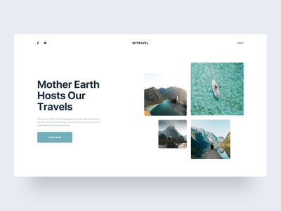 Mi Travel :: CTA :: Free Download clean ui design web design creative minimal free download wordpress freebie blog landing page landing ux ux-ui typography card weather layout blog layout clean blog blog post