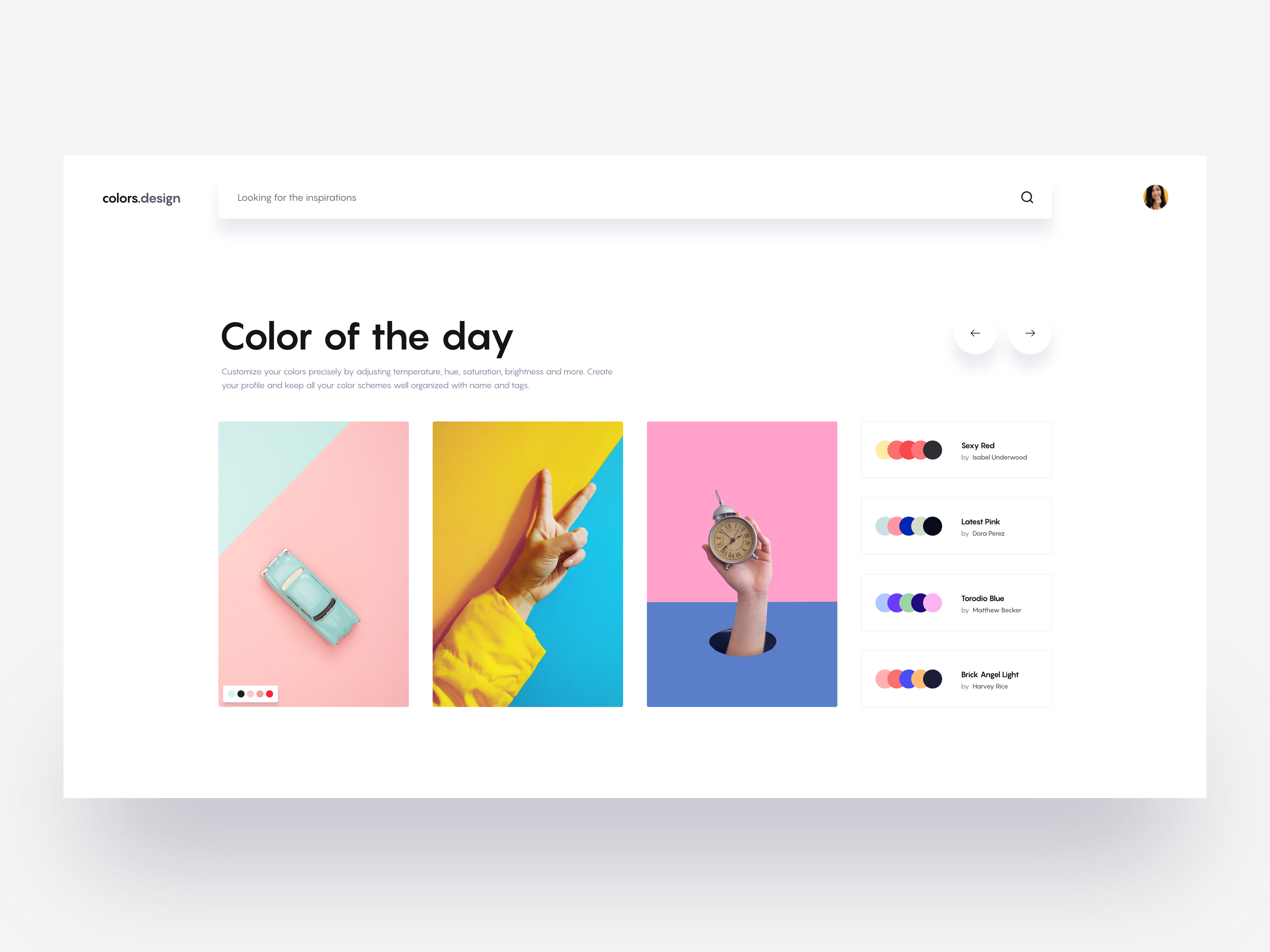 Colors design layout exploration tranmautritam dribbble pro
