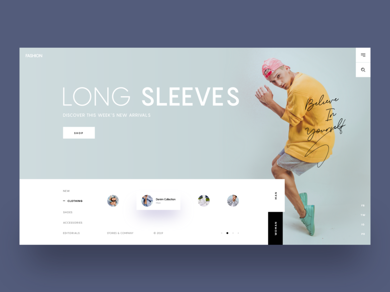 Fashion 2019 :: Layout Exploration fashion website fashion app man fashion headers hero header clean layout tabs tab slides slide model fashion design landing page tranmautritam minimal creative web design ui design clean