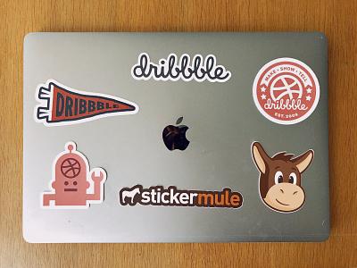 Dribbble Stickers macbook pro macbook dribbble sticker stickers dribbble