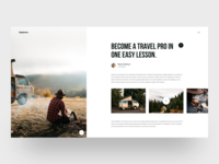 Explorers :: Article Page: Layout Exploration