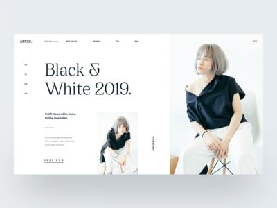 Black & White :: Layout Exploration