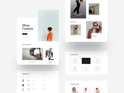 MI Fashion :: MASS :: Free Sketch App Template shopping fashion shop fashions fashion app minimal style clean style clean ui clean ui design black and white design tranmautritam landing page free download blog fashion minimal creative web design ui design sketch app