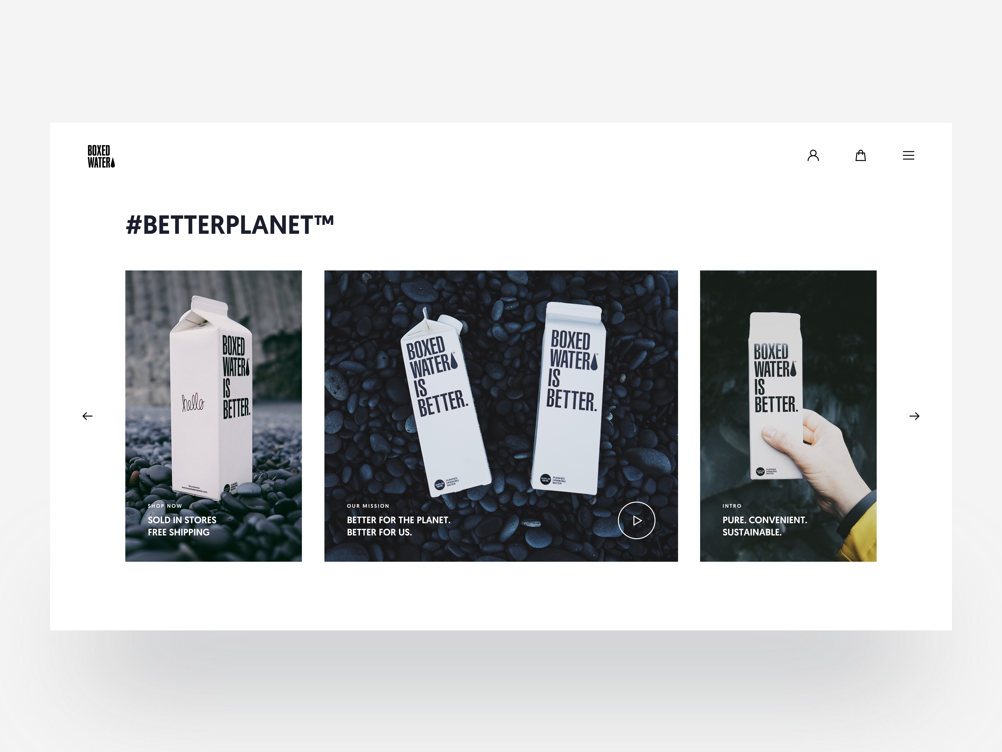 Boxedwater list slides redesigned tranmautritam dribbble