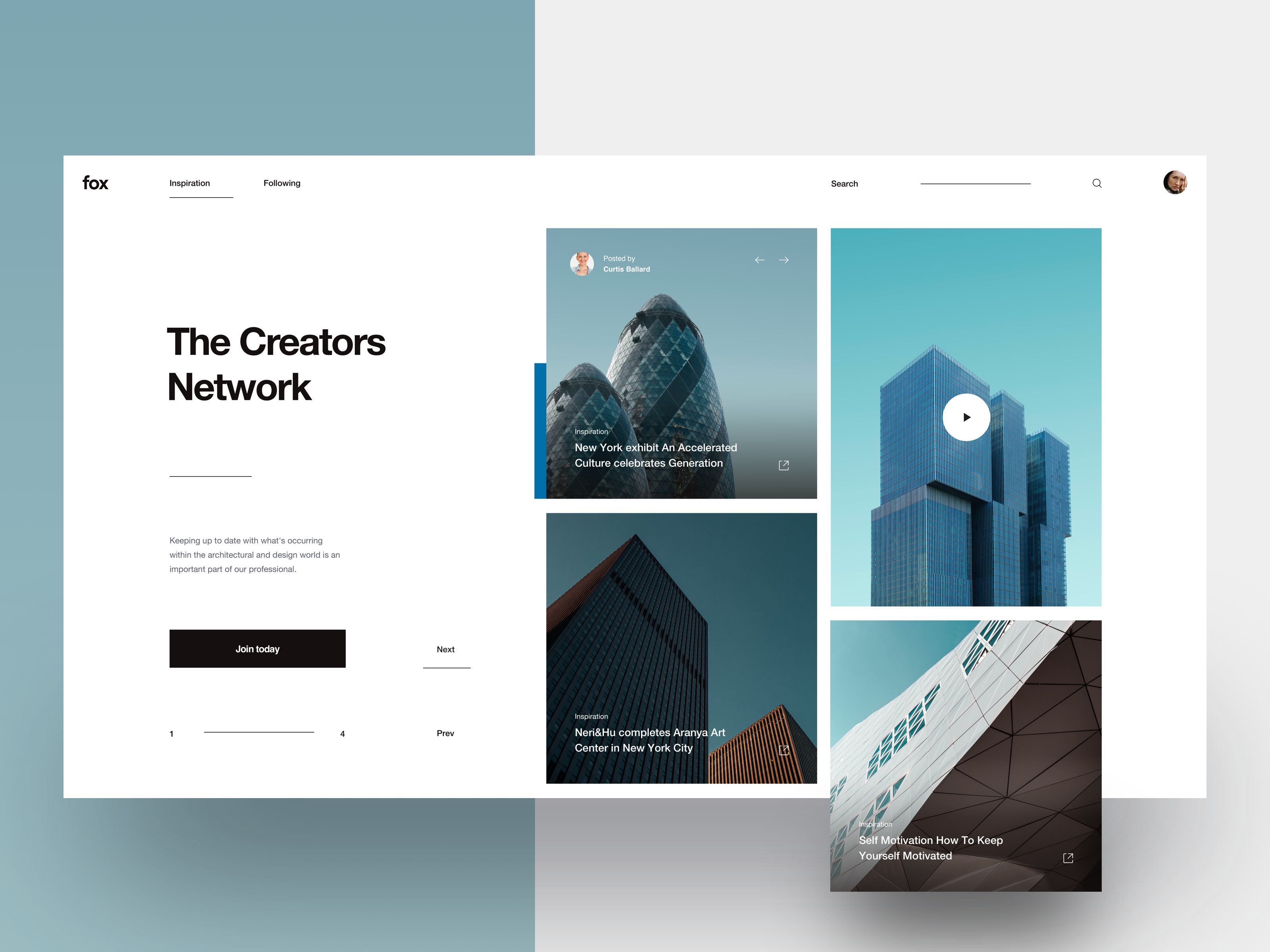 Fox   layout exploration   tranmautritam   dribbble   2019