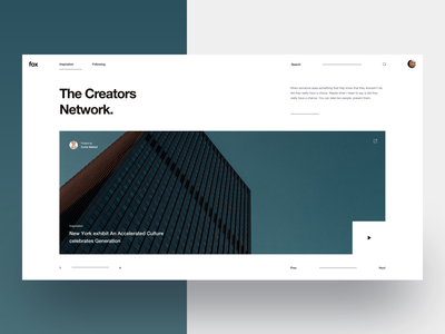 Fox :: Layout Exploration :: First Screen user interface product design ux web art direction layout exploration layouts interactive design interaction architectural architecture architects blog landing page tranmautritam minimal creative web design ui design clean
