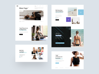 Mi Yoga :: First Look news subscription yoga pose photo icons sport user interface user experience userinterface ui web product design ux design home page yoga landing page tranmautritam clean ui design web design