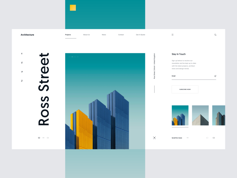 Architecture :: Header :: Layout Exploration ui kit web typography typography user interface ux design slide building house pastel colors pastel color pastel architecture architect landing page tranmautritam minimal creative web design ui design clean