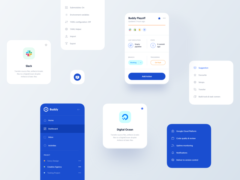 Buddy :: Components clean ui design web design creative minimal tranmautritam dashboard user interface user experience block card dashboard design dashboard app dashboard ui dashboard kit sketchapp product design menu widget list