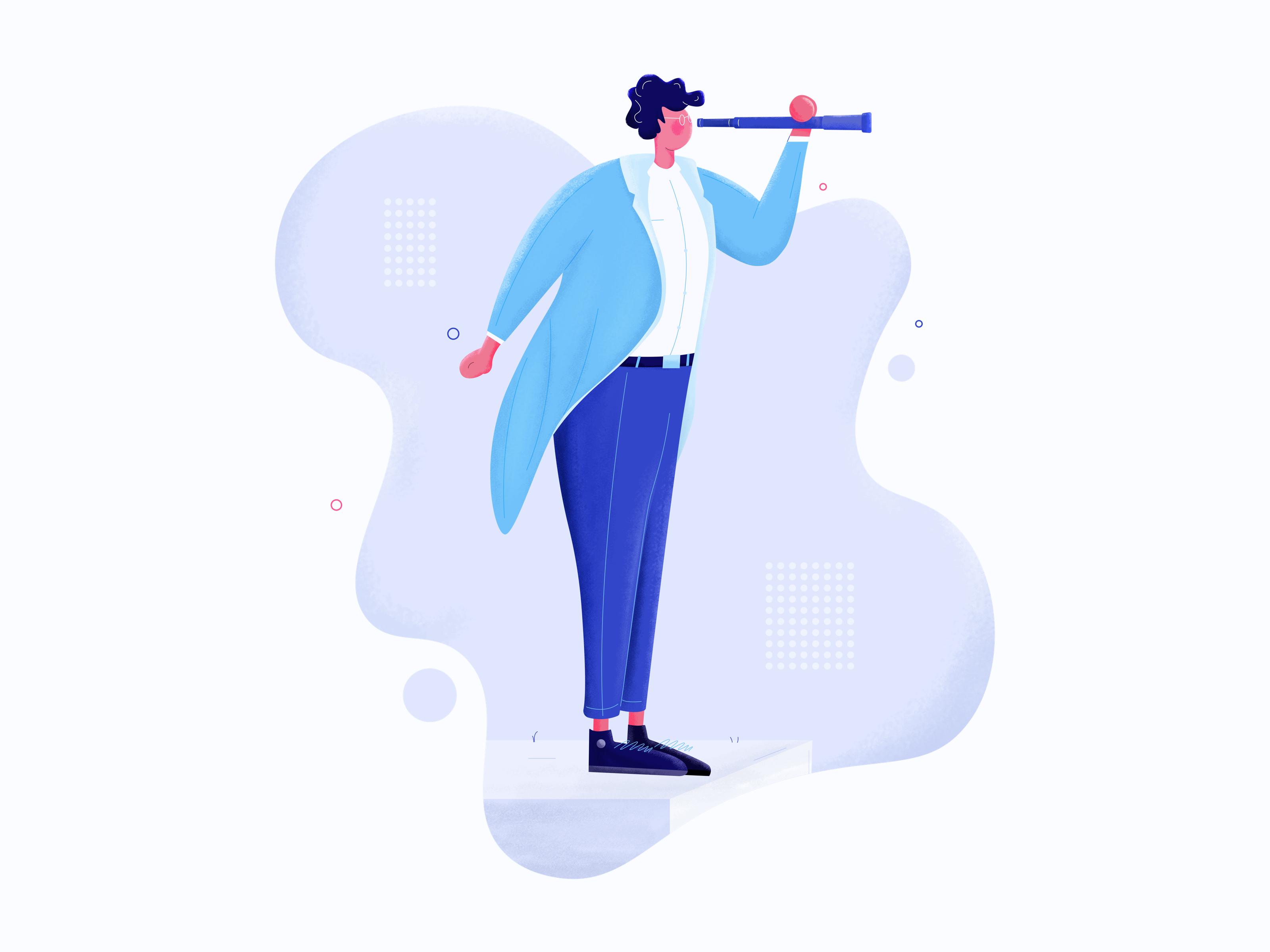 Business man vision illustration tranmautritam