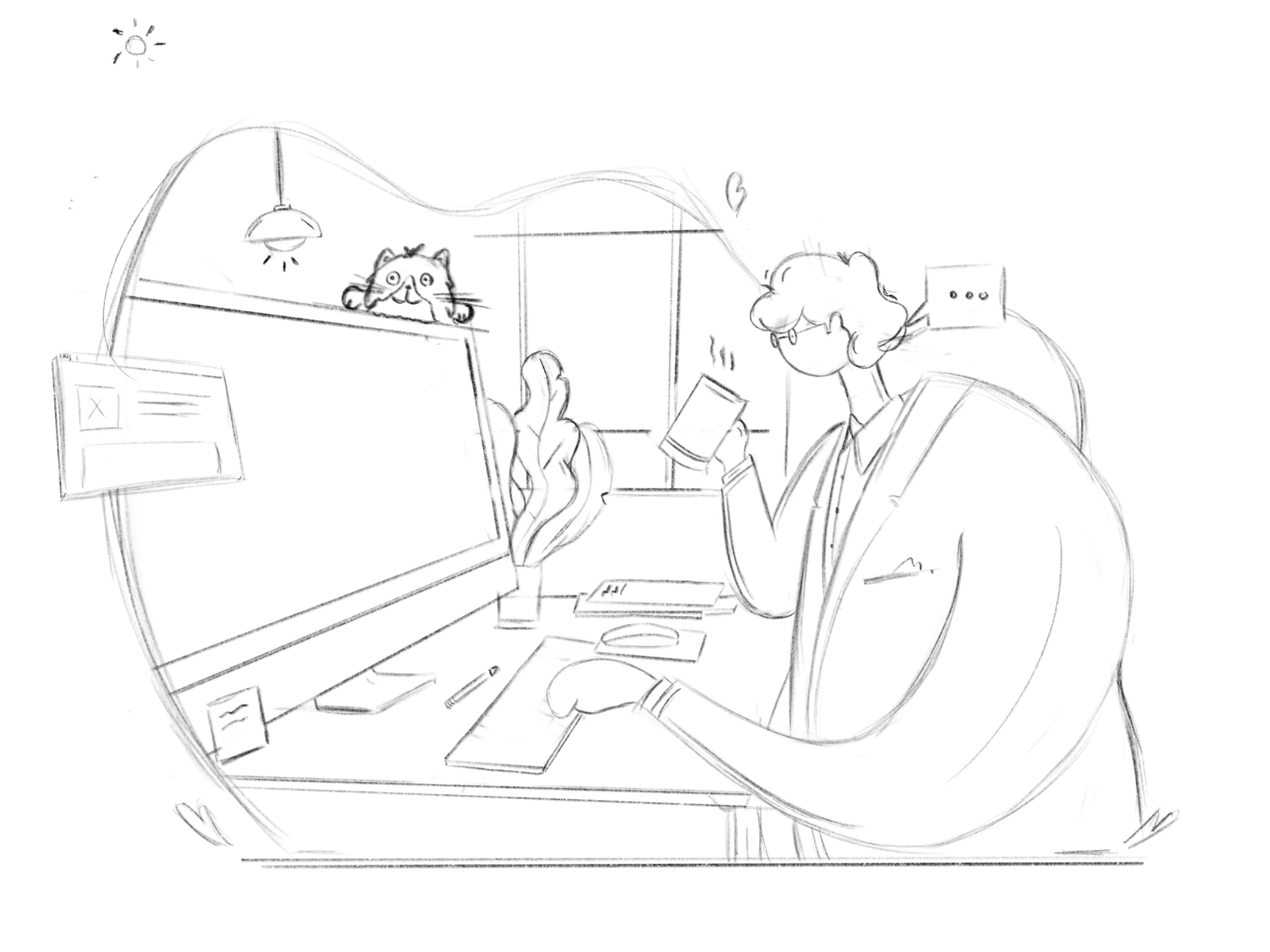 Working   sketch by tran mau tri tam