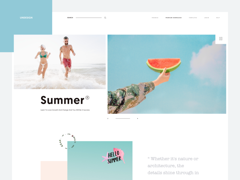 Summer :: Pastel Color :: Layout Exploration summer product design theme colorscheme colors creative layout ux design user interface web web design layout exploration clean layout pastel color beach photography landing page tranmautritam minimal creative ui design