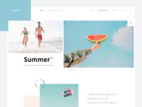 Summer :: Pastel Color :: Layout Exploration