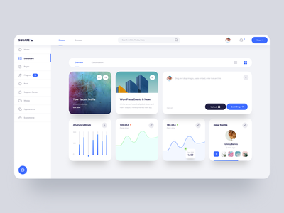 Square Dashboard :: Version 1.0 tabs charting business tranmautritam clean ui product design product web design ui dashboard dashboard admin story charts article news color card blog chart ui design