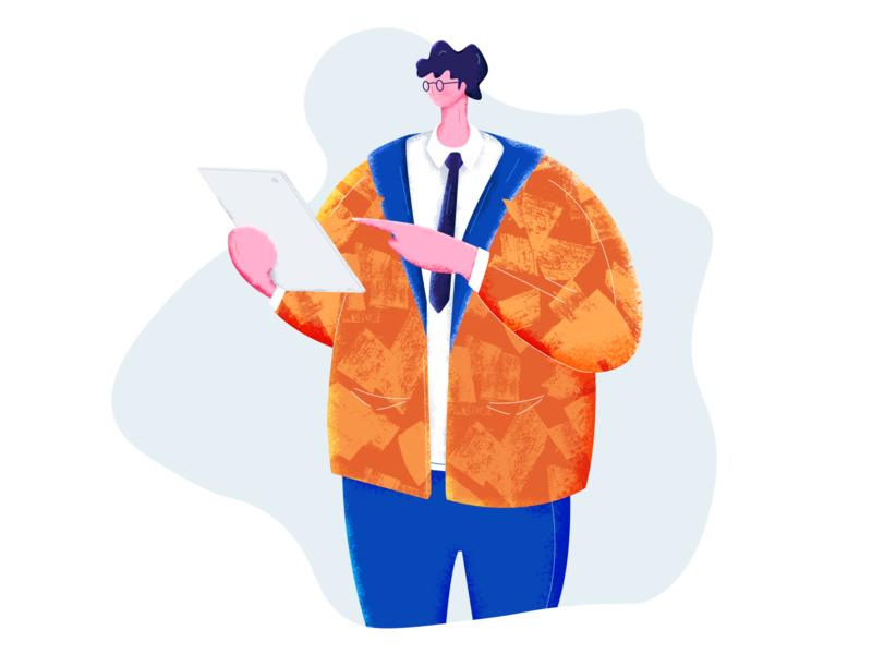 Installer :: Illustration boy vector brush procreate illustrator cc illustration design vietnam tranmautritam business man illustration business man character illustrator sketch ipad pro installer install ipad business man illustration