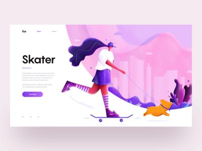 Skater :: Illustration :: UI Design